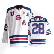 Olympic Hockey Team USA Brian Rafalski Authentic Men's Nike White Jersey: #28 1960 Throwback