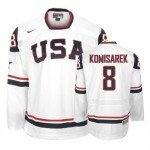 2010 Olympic Hockey Team USA Mike Komisarek Authentic Men's Nike White Jersey: #8