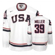 2010 Olympic Hockey Team USA Ryan Miller Premier Men's Nike White Jersey: #39