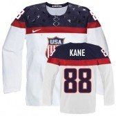 2014 Olympic Hockey Team USA Patrick Kane Authentic Men's Nike White Jersey: #88 Home