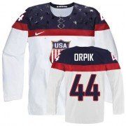 2014 Olympic Hockey Team USA Brooks Orpik Authentic Men's Nike White Jersey: #44 Home