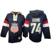 Sawyer Hooded Sweatshirt Olympic Hockey Team USA T. J. Oshie Premier Men's Nike Navy Blue Jersey: #74